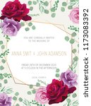 wedding floral  invitation ... | Shutterstock .eps vector #1173083392