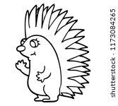 line drawing cartoon spiky... | Shutterstock .eps vector #1173084265