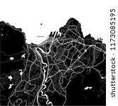 area map of trondheim  norway.... | Shutterstock .eps vector #1173085195