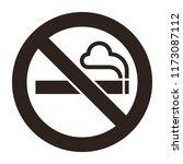 no smoking sign. smoking... | Shutterstock .eps vector #1173087112