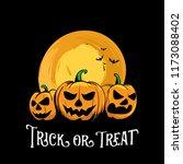 halloween scary pumpkins... | Shutterstock .eps vector #1173088402