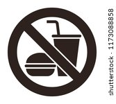 no food  and no drinks allowed... | Shutterstock .eps vector #1173088858