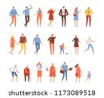 big vector set of people... | Shutterstock .eps vector #1173089518