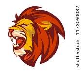 Stock vector lion head logo vector template 1173090082