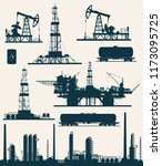 set of oil and gas industry... | Shutterstock . vector #1173095725