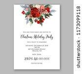 marsala dark red peony wedding... | Shutterstock .eps vector #1173099118