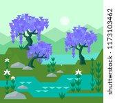 vector geometric wisteria set... | Shutterstock .eps vector #1173103462