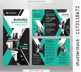 business brochure template in... | Shutterstock .eps vector #1173118672