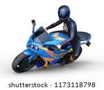 3d cg rendering of motorbike   Shutterstock . vector #1173118798