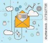 line art marketing email vector ...   Shutterstock .eps vector #1173127735