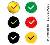 approved sertified mark.quality ... | Shutterstock .eps vector #1173129298