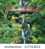 Scenic Japanese Waterfall In...