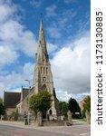 a free church in invergordon...   Shutterstock . vector #1173130885