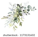 watercolor floral arrangements ... | Shutterstock . vector #1173131632