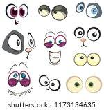 cartoon eyes set isolated....   Shutterstock .eps vector #1173134635