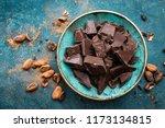 chocolate. dark bitter... | Shutterstock . vector #1173134815