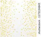 gold confetti vector background ... | Shutterstock .eps vector #1173134845