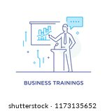 business coach at the... | Shutterstock .eps vector #1173135652