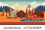 flat illustration of... | Shutterstock .eps vector #1173140485