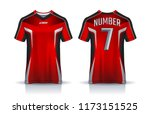 t shirt sport design template ... | Shutterstock .eps vector #1173151525