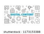 digital content outline vector... | Shutterstock .eps vector #1173153388