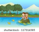 Illustration Of Kids Sailing O...