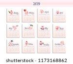 hand drawn vector calendar for...   Shutterstock .eps vector #1173168862