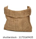 empty burlap bag or sack to be... | Shutterstock . vector #1173169435