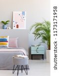 abstract poster in real photo... | Shutterstock . vector #1173171958