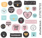 big set of vector tags and...   Shutterstock .eps vector #1173173722