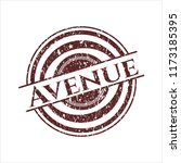 red avenue rubber stamp with... | Shutterstock .eps vector #1173185395