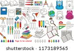 school stationery set to be... | Shutterstock .eps vector #1173189565