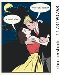 vector romantic illustration... | Shutterstock .eps vector #1173190768