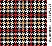 grunge houndstooth pied de... | Shutterstock .eps vector #1173191308