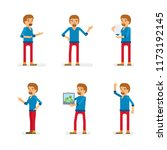 vector young adult man in...   Shutterstock .eps vector #1173192145