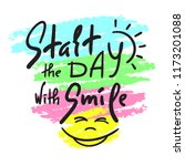 start the day with smile  ... | Shutterstock .eps vector #1173201088
