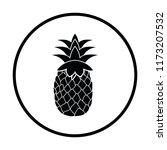 icon of pineapple. thin circle... | Shutterstock .eps vector #1173207532