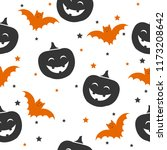 seamless pattern of halloween... | Shutterstock .eps vector #1173208642