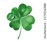 Green Clover Leaf. Four Leaf...