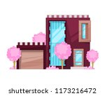 colorful country house  family... | Shutterstock .eps vector #1173216472