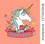cute poster  label  greeting... | Shutterstock .eps vector #1173222628