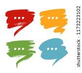 set of colorful scribble speech ... | Shutterstock .eps vector #1173223102