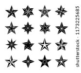 star icon vector set | Shutterstock .eps vector #1173225685