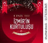 september 9  salvation of izmir.... | Shutterstock .eps vector #1173236365