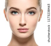 young woman with beautiful face ... | Shutterstock . vector #1173238465