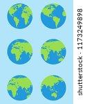 world map isolated on white...   Shutterstock .eps vector #1173249898