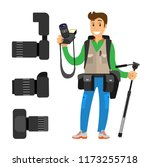 photographer and high...   Shutterstock .eps vector #1173255718