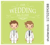vector of cute wedding lgbt... | Shutterstock .eps vector #1173259288
