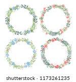 vector set of blank round... | Shutterstock .eps vector #1173261235