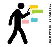 walking people with a mobile... | Shutterstock .eps vector #1173266632